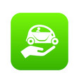 car protection icon green vector image