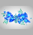 colorful abstract drops in blue vector image vector image
