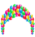 Coloured Party Balloons vector image