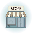 commercial store vector image