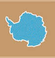 Continent antarctica in a flat style