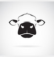 cow head design on a white background animals vector image vector image
