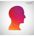 Creative concept head silhouette for Web vector image