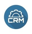 CRM Platform Icon Flat Design vector image vector image
