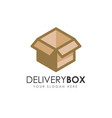 delivery box logo design courier logo design vector image vector image