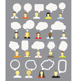 Different people with speech bubbles collection vector | Price: 1 Credit (USD $1)