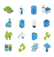 Ecology Isometric Icons Set vector image vector image