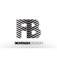 fb f b lines letter design with creative elegant vector image vector image