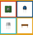 flat icon technology set of resist transducer vector image vector image