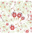 floral pattern with elements spairaley vector image