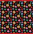 flower spring seamless pattern background vector image vector image