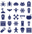 halloween isolated icons set every single vector image vector image