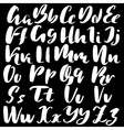Hand drawn font made by dry brush strokes Grunge vector image vector image