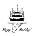 Happy Birthday card element vector image vector image