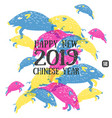 happy new 2019 chinese year of the boar vector image vector image