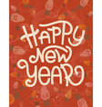 Happy New Year lettering Retro greeting card vector image vector image