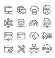 hosting and local network icon set communication vector image