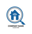 house connection business logo image vector image vector image