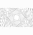 infinite twisted rhombic or square white vector image
