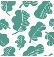 lettuce seamless pattern vector image