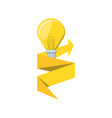 light bulb with arrow up isolated icon vector image vector image
