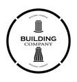 logo a construction company in black tone vector image vector image