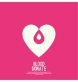 logotype blood donation vector image vector image
