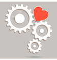 Machine Gear Heart vector image