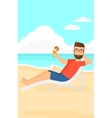 Man sitting in chaise longue vector image vector image