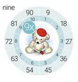 Math multiplication circle with teddy bear