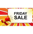 Megaphone with FRIDAY SALE announcement Flat vector image vector image