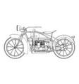 motorcycle vintage motorbike motor design retro vector image vector image