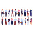 multicultural business group people office vector image