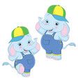 of cartoon elephants vector image vector image
