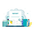 operational audit vector image