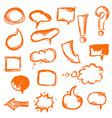 orange hand draw vector image