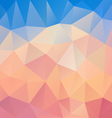 pastel pink blue polygon triangular pattern vector image vector image