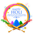 powder color gulal for happy holi background vector image vector image
