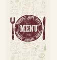 restaurant menu typographical retro poster design vector image