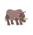 rhinoceros wild exotic african animal vector image