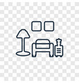 room concept linear icon isolated on transparent vector image