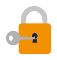safe secure padlock with key vector image vector image