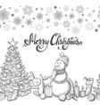 seamless horizontal border with christmas icons vector image vector image