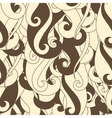 Seamless pattern hair curls and waves vector image vector image