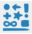 set characters drawn with paint vector image vector image