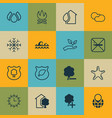 set of 16 eco-friendly icons includes insert vector image vector image