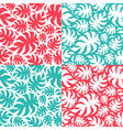 Set of palm leaves seamless pattern vector image vector image