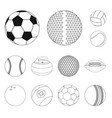 sport and ball sign set of vector image