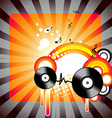 stylish music artwork vector image