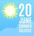 summer solstice background vector image vector image